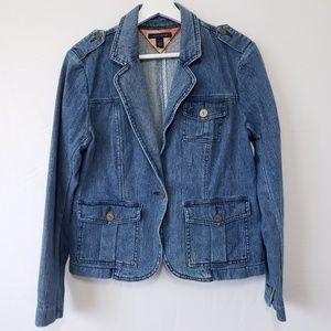 Tommy Hilfiger Denim Blazer Jacket Size Large